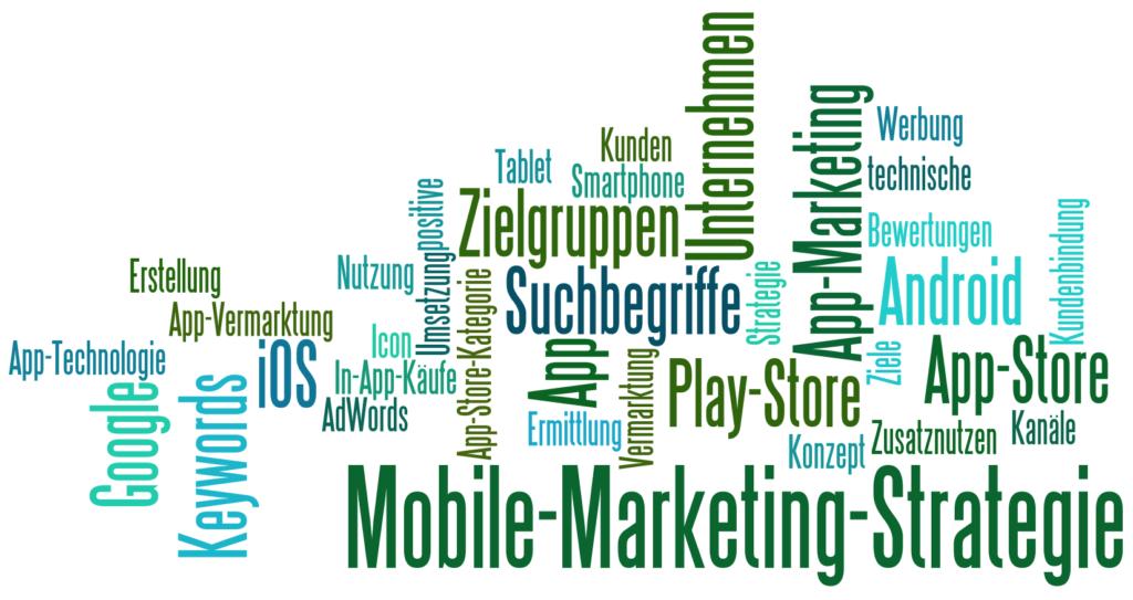 Stichworte für die App-Marketing Strategie von Thomas Kison: Definition der Zielgruppen und der Keywords, App Store Optimierung, App-Vermarktung