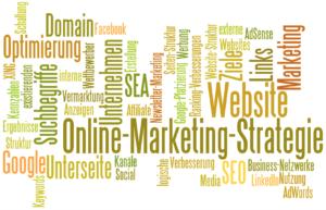 Stichworte für die Onlinemarketing Strategie von Thomas Kison: Domain-Suche, Zielgruppen-Analyse, Struktur von Website und Unterseiten, Vermarktung mit SEO, SEA, Setzen von internen und externen links, Werbung mit Google AdWords,...